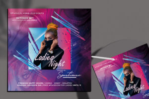 Ladies Event Night Flyer Free PSD Template