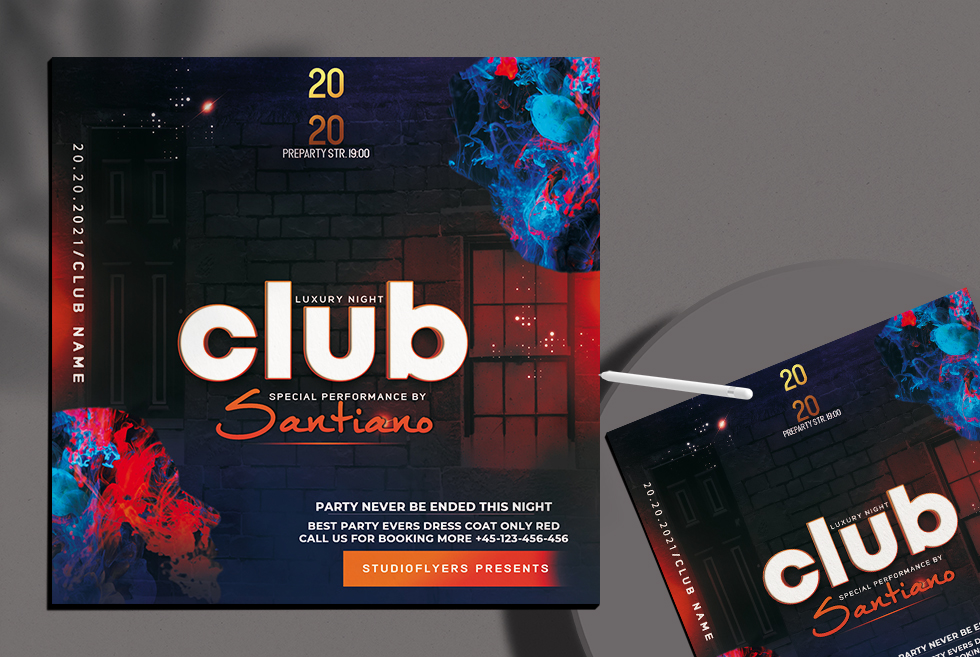 Luxury Club Free PSD Flyer Template