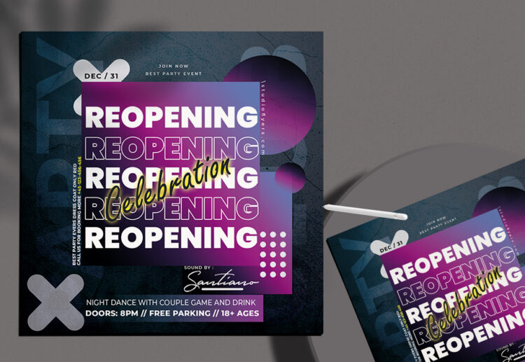Reopening Night vol.2 Free PSD Flyer Template