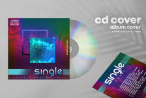 Single CD Cover Artwork Free PSD Template