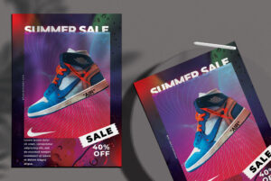 Summer Sale Shoes Flyer Free PSD Template