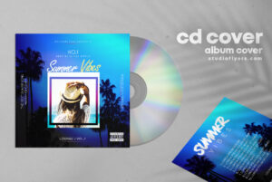 Summer Vibes CD Cover Free PSD Template