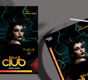 Dark Night Club Free PSD Flyer Template