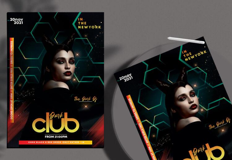 Dark Night Club Free PSD Flyer Template