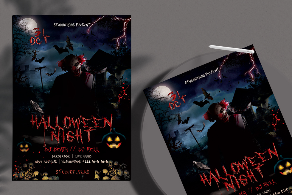 Halloween Night Flyer PSD Free Template