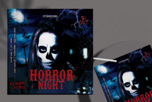 Horror Night Flyer Free PSD Template