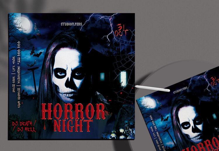 Horror Night Flyer Free PSD Template