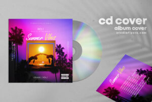 Summer Vibes Vol.2 CD Cover Free PSD Template