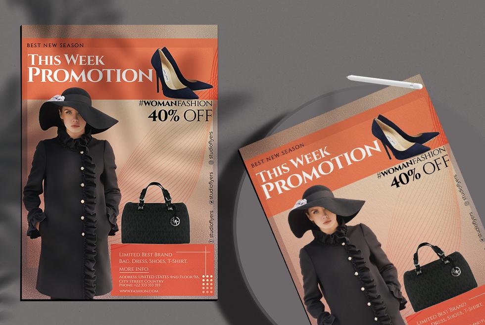 Woman Fashion Flyer Free PSD Template