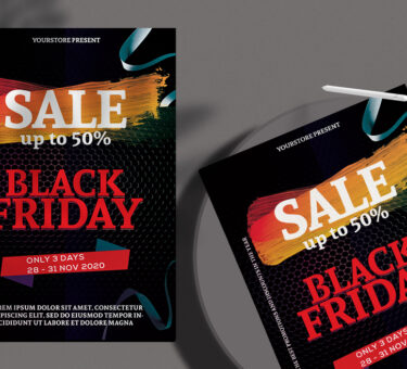 Black Friday Sale Flyer Free PSD Template