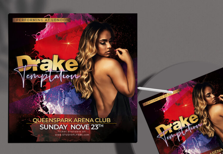Girls Night Club Flyer Free PSD Template