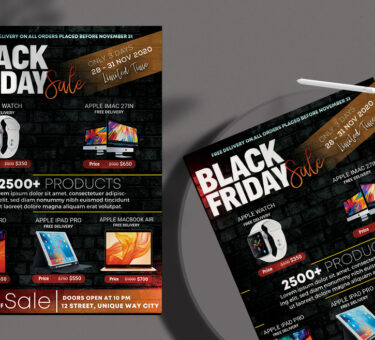 Mega Sale Black Friday Free PSD Flyer Template