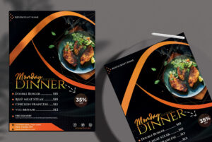 Monday Dinner Free PSD Flyer Template