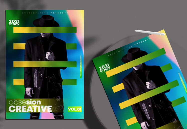 Obsesion Creative Vol.01 Free PSD Flyer Template