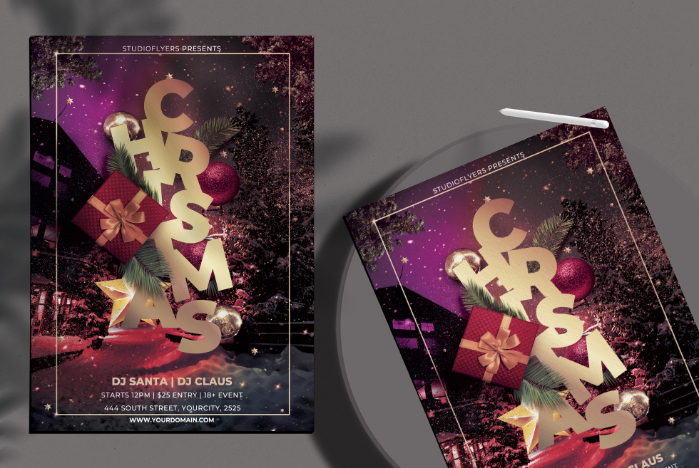 Christmas Celebration Flyer Free PSD Template