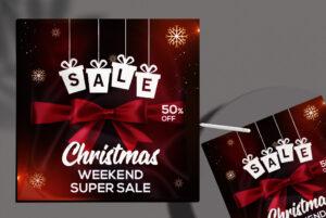 Christmas Sale Free Instagram Banner PSD