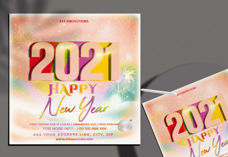 New Year 2021 Flyer Free PSD Template