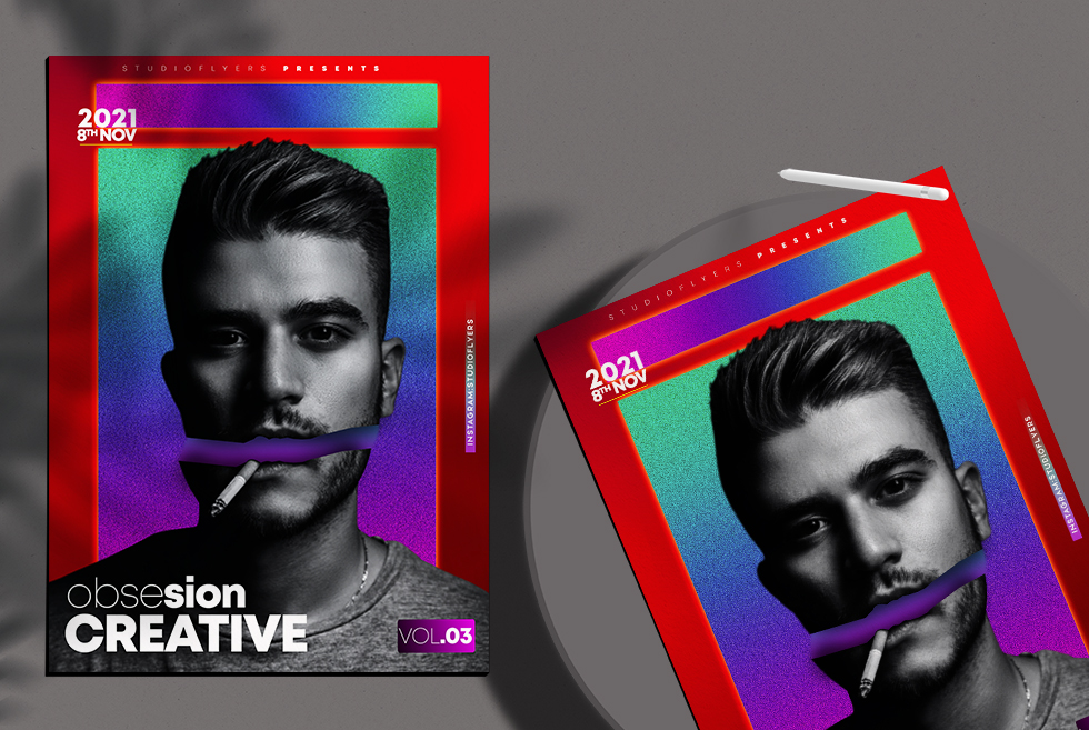 Obsesion Creative vol.03 Flyer Free PSD Template