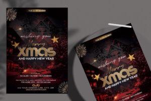 Wishing You Xmas Flyer Free PSD Template