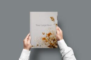A4 Folder Free PSD Mockup Template