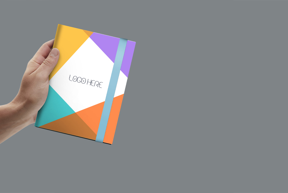 A4 Notebook Free Mockup PSD Template
