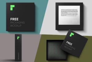 Box Mockup Set Free PSD Template