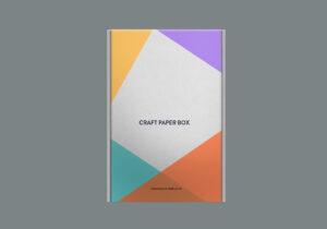 Craft Paper Box Mockup Free PSD Template
