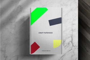 Craft Paper Box Mockup Free PSD Template
