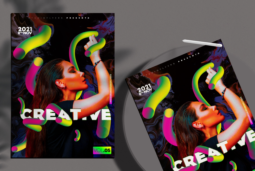 Creative Obsesion Vol.05 Free PSD Flyer Template