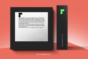 Free Box Mockup Side & Back PSD Template