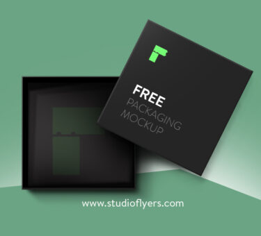 Gift Box Mockup Free PSD Template