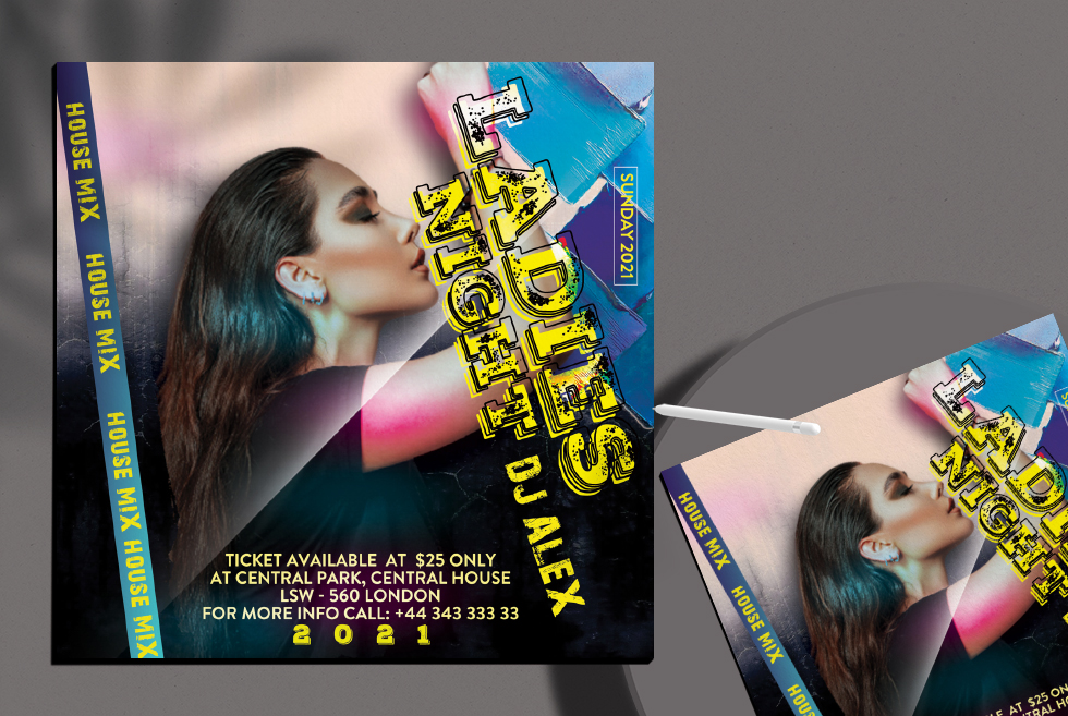 Ladies Mix Night Flyer Free PSD Template
