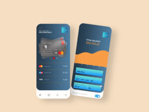 Mobile Wallet App UI Design Free PSD Template