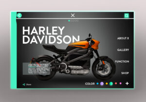 Motorcycle Concept Design UI Free PSD Template