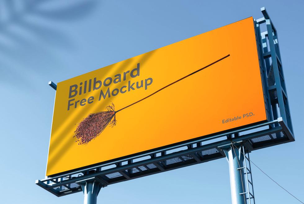 Standard Billboard Free PSD Mockup Template