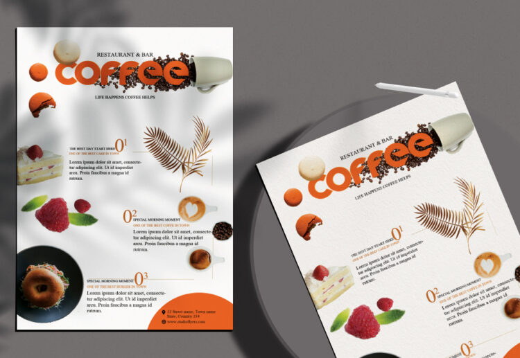 Coffe Moments Free PSD Flyer Template