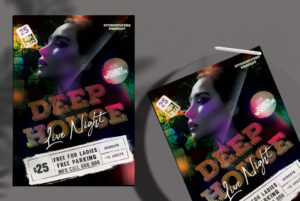 Deep House Live Night Free Flyer PSD Template