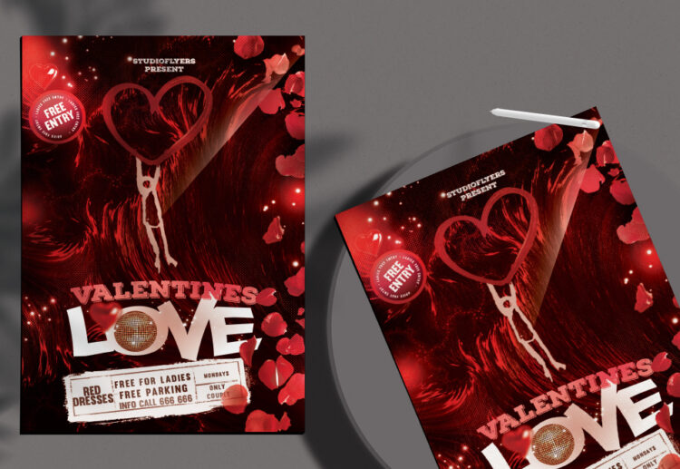 Lovely Night Flyer Free PSD Template
