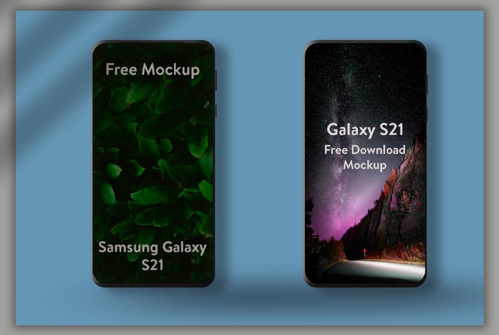 Samsung Galaxy S21 Ultra Free Mockup PSD
