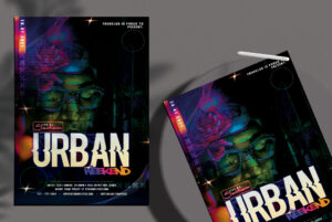 Urban Weekend Flyer Free PSD Template