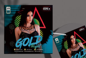 Gold Night Event Free PSD Flyer Template