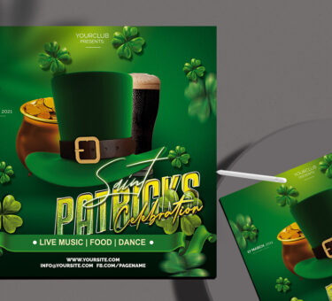 Saint Patricks Flyer Free PSD Template