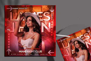 Miami Night Club Flyer Free PSD Template