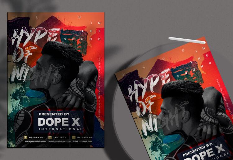 Sound Club Flyer Free PSD Template