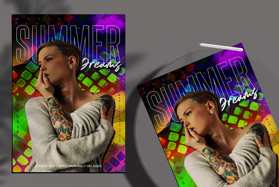 Summer Dreams Flyer Free PSD Template