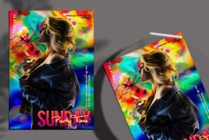 Sunday Party Time Flyer Free PSD Template