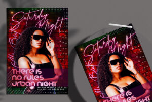 Urban No Rules Party Flyer Free PSD Template