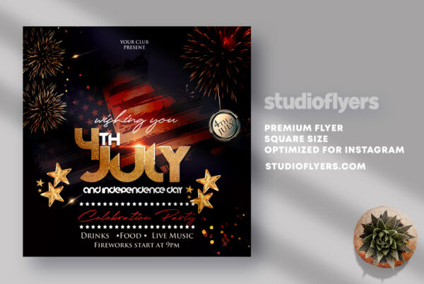 4th July 2021 Event PSD Flyer Template