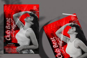 Club Event Ladies Night Flyer Free PSD Template