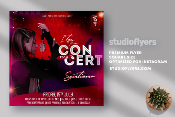 Its Time For Concert PSD Flyer Template